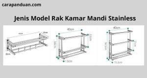 Jenis Model Rak Kamar Mandi Stainless