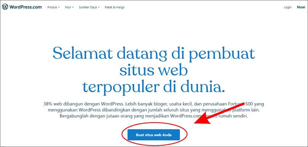 panduan membuat website wordpress